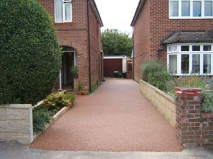 the driveway after resin bound paving