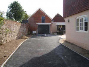 the tarmac driveway before resin bound paving