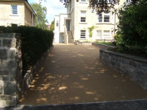 the new resin bound driveway finished!