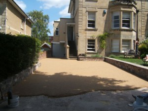 this driveways resin bound paving is getting there!