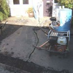 Resin bound alternative driveway under construction