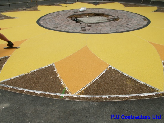 Oxford girls school Sunflower resin bound paving