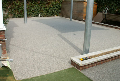 Resin bound surfacing creates the perfect surface for a disabled ramp and playground at a school in London