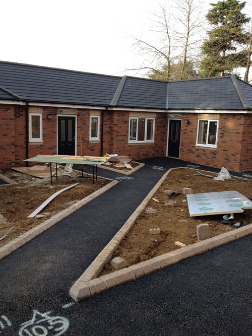 Banbury private hospital new resin bound paving path